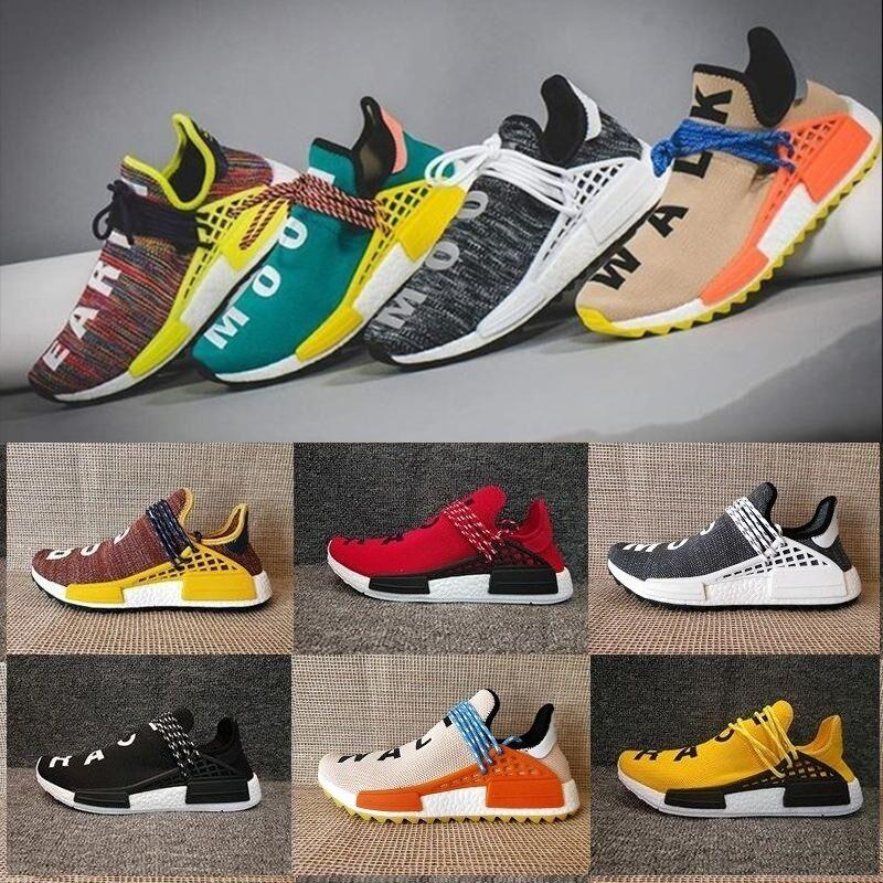 new product 6ba8c ab3d6 NMD Human Race Pharrell Williams TR Shoes Sports Running Shoes discount  Athletic mens Outdoor Training Sneaker Size 36-45
