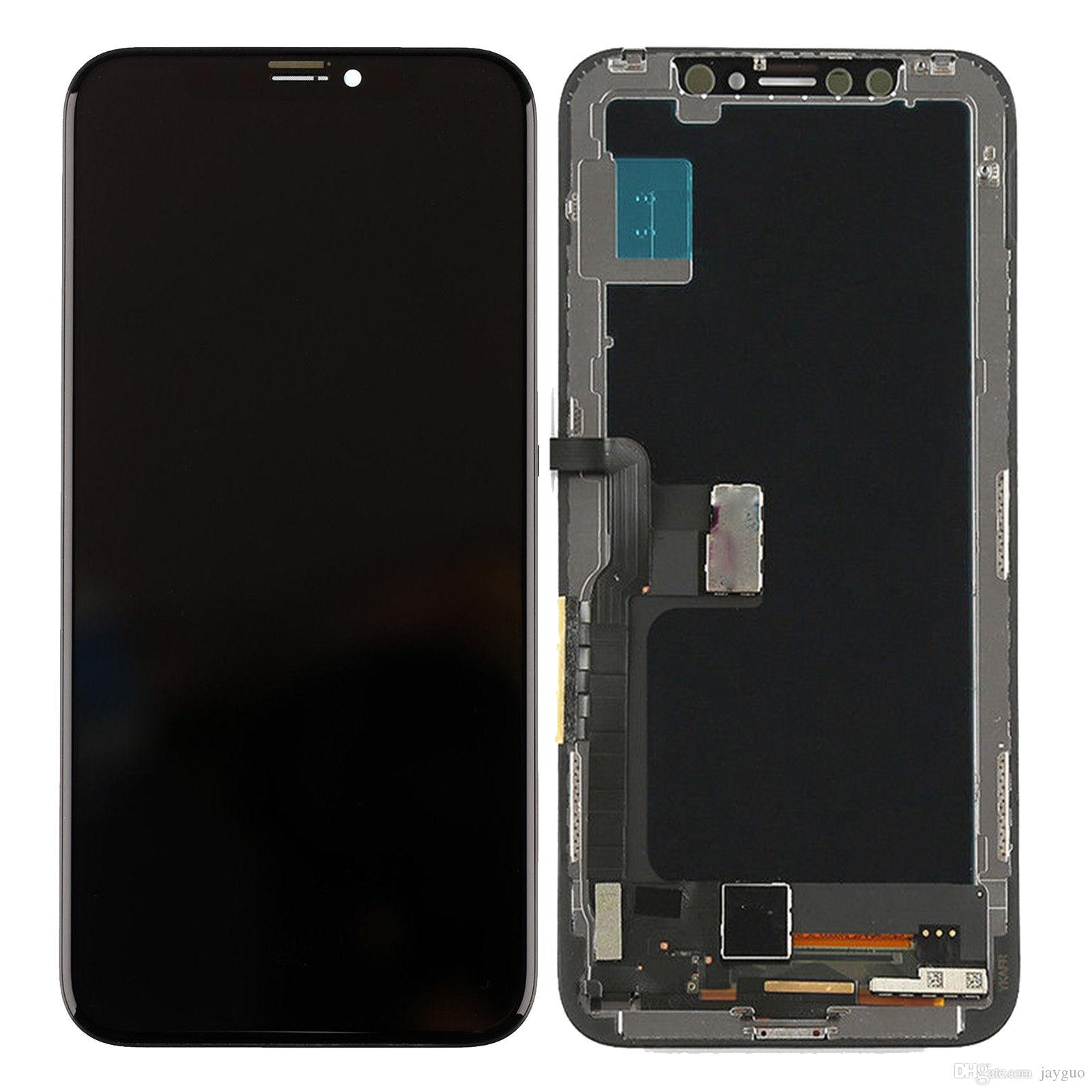 save off 4af96 9a5e0 20Pcs AMOLED For iPhone X LCD Display No Dead Pixel Touch Screen Digitizer  Assembly Replace Parts