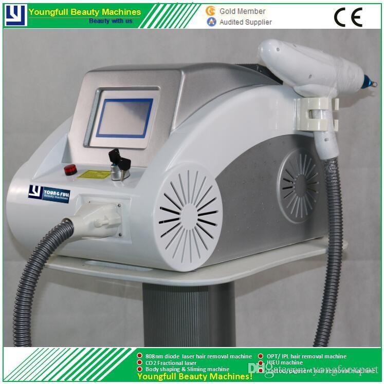 Nd.yag laser tattoo removal machine pigment remove multi wavelength beauty instrument CE LVD ECM approved salon spa device