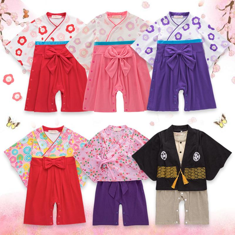bd98facc0 Japanese Long-sleeved Baby Jumpsuits Kids Toddler Baby Boy Girl ...