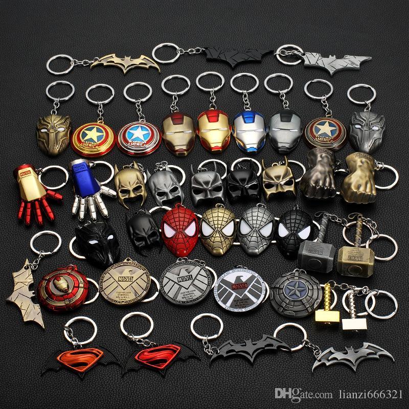 Metal Keychain Máscara Brinquedos chave do carro Pendent High Grade chaveiro Mulheres Bag Pendente Key jóias anéis Homens Car Chaveiro jóias HJ249