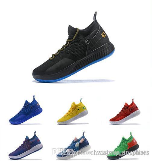 62c2a4d6eba Acquista Con Scatola KD 11 Scarpe Da Basket Uomo Nuovo Uomo Oreo Oro Bianco  Blu Ghiaccio Maglieria Basket Scarpe Da Ginnastica Zoom Sneakers Da Basket  A ...