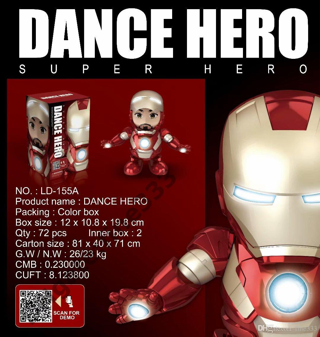 Dance Hero Iron Man Doll Toys 20CM Dancing Iron Man Come with Box Packaging  Superhero Doll Toys Best Gifts For Kids Toys