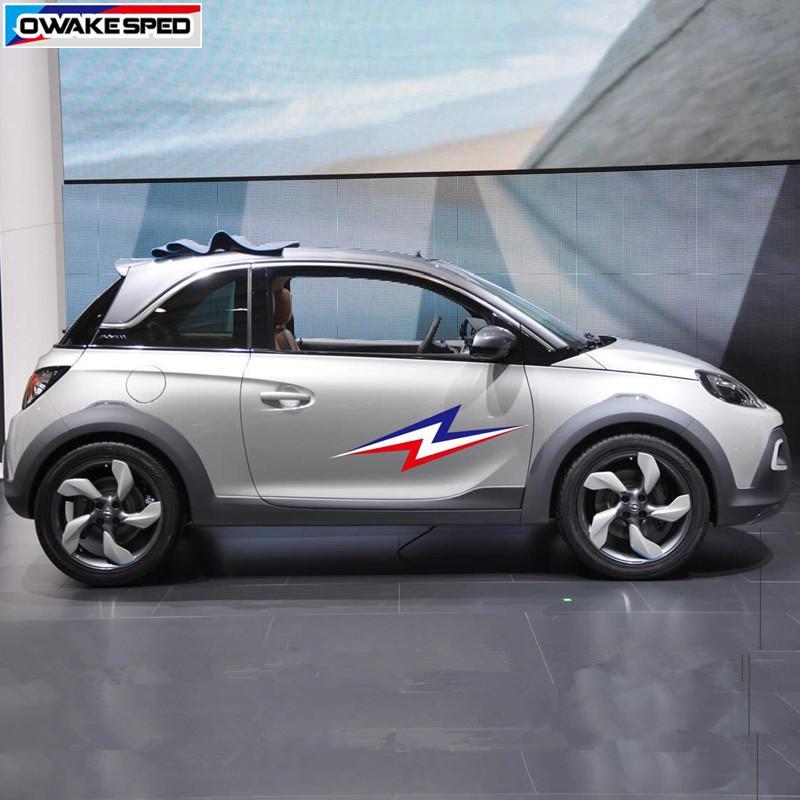 Lightning Graphics Decal City Auto Tür Seitenaufkleber Für Opel Adam Corsa Astra Gt Racing Sport Styling Auto Bod Decor Aufkleber