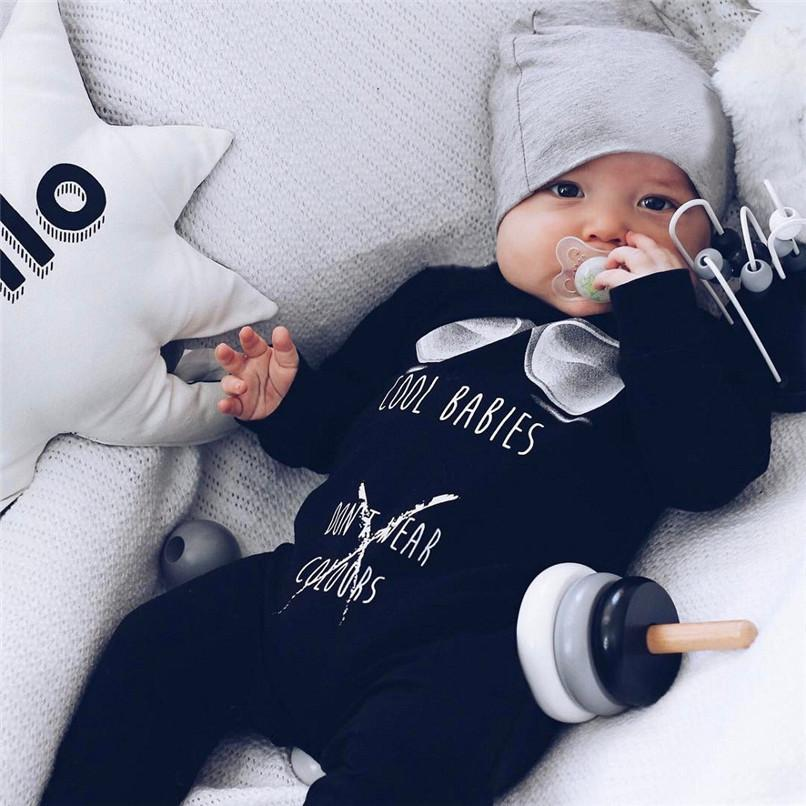 d6df5a91f7003 2019 Winter Babys Clothes Newborn Infant Baby Boys Girls Letter Printed  Long Sleeve Jumpsuit Romper Clothes Baby Boy Romper JY10 From Cynthia01