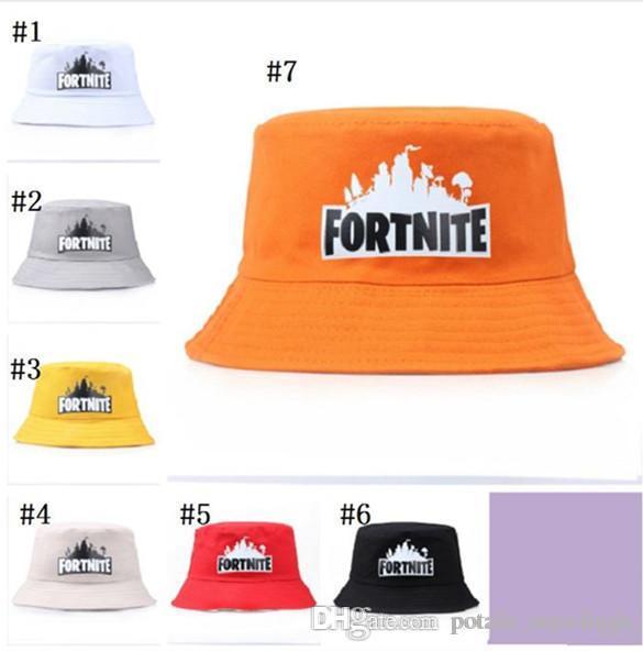 2019 Fisherman Hats Fortnite Summer Game Fortnite Bucket Hat Cotton 7  Styles Visors Printed Visor Cap Women Sunhat Fishing Outdoor Caps From ... f4ec97401da