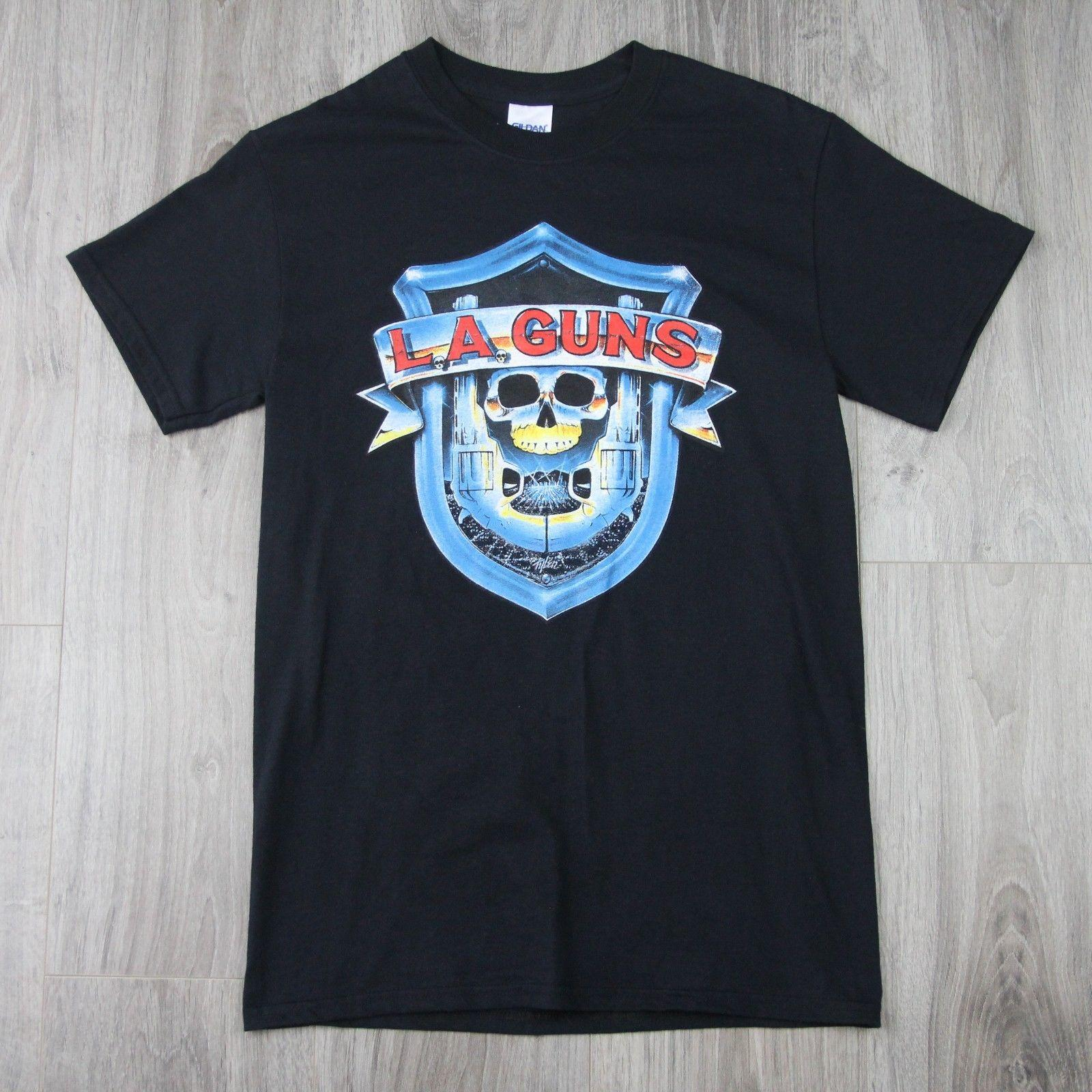 f4f7177b0b Mens Vintage LA Guns Hollywood Forever Rock Tee Band 2012 S Album Tour  HeavyFunny free shipping Unisex Casual top