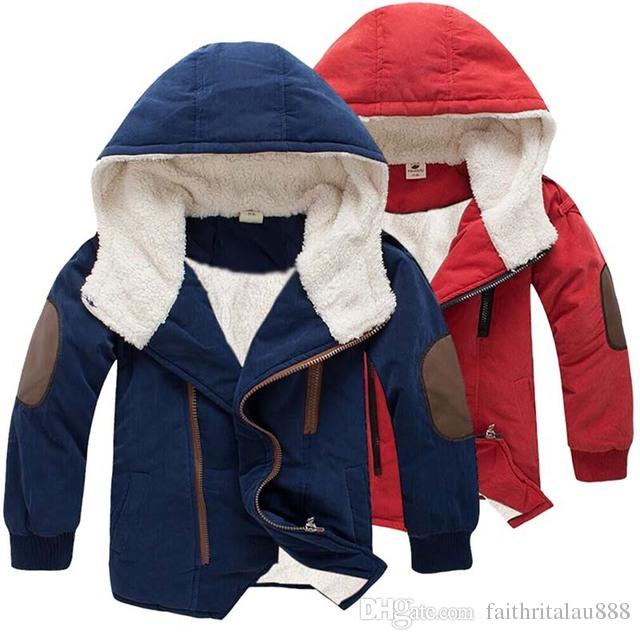 f28b166f284c Hot Sale Winter Clothes Boys Coats Kids Berber Fleece Hooded Jacket ...