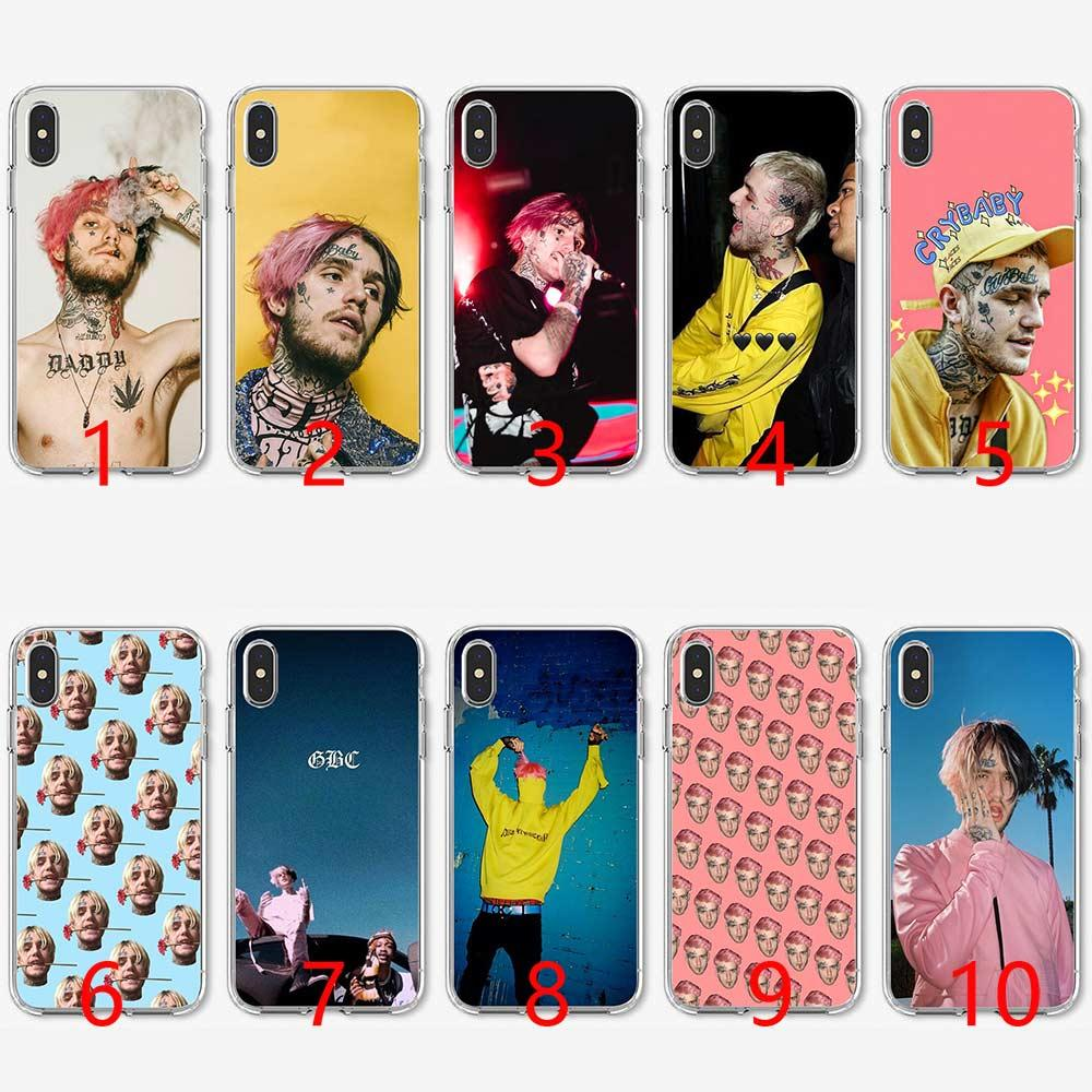 pretty nice e91cc 60347 Lil Peep Soft Silicone TPU Phone Case for iPhone 5 5S SE 6 6S 7 8 Plus X XR  XS Max Cover