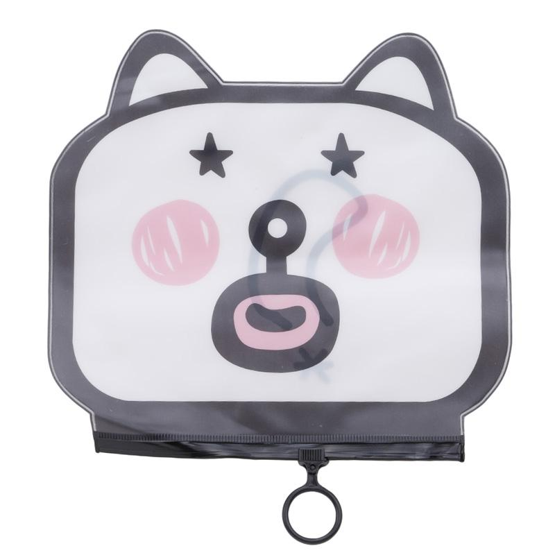 Casual Transparent Clear Cosmetic Bags Animal Cat PVC Toiletry Bags Travel Organizer Beauty Case Makeup Bath Wash Make Up Box