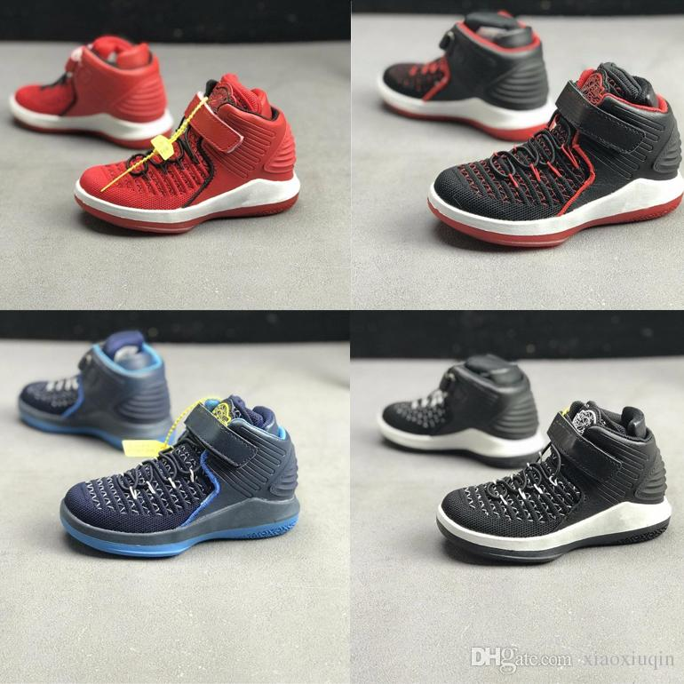 cb2acd55aba191 2019 Little Kids Russell Westbrook Basketball Shoes For Sale Aj32 Red Black  Blue Boys Girls Retro 32s Sneakers Tennis With Box Size 11C To 3Y From ...