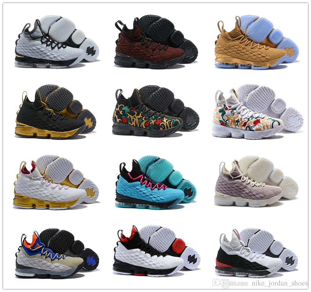 the best attitude 67417 c61d3 Newest Lebron 15 Men Basketball Shoes South Beach Zoom Generation Jamen 15s  Sneakers Mens designer trainer Shoes