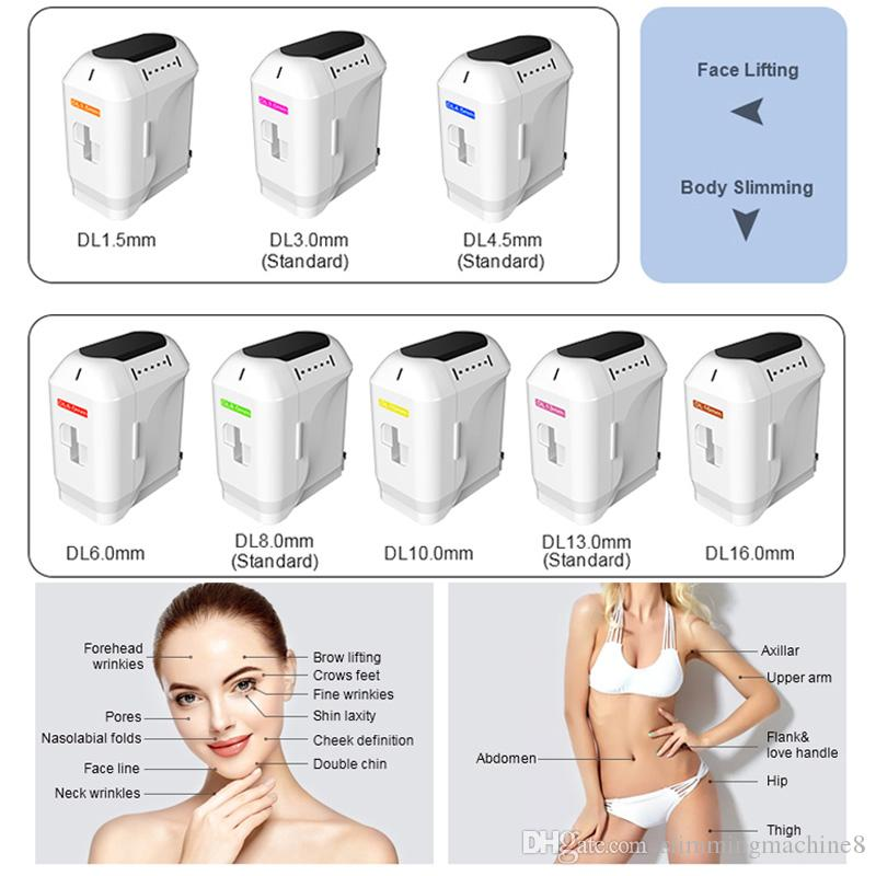 Factory price hifu face lift skin care anti-wrinkle portable hifu machine 8 cartridges Salon or home use 20,500 shots