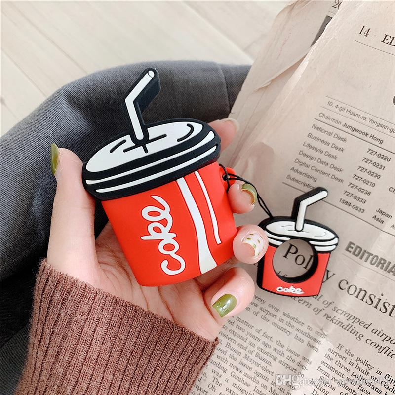 For AirPods Case 3D Cartoon Earphone Cases For Apple Airpods 2 cute Accessories Protect Cover with Finger Ring Strap cartoon