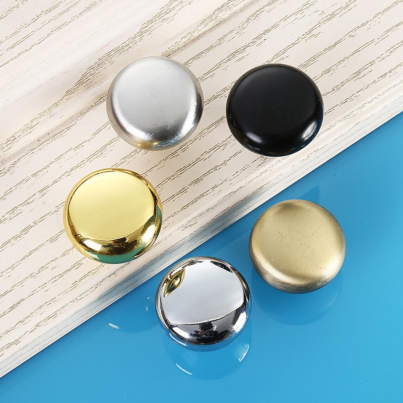 5pcs/set Round Single Hole Door Handles Furniture Kitchen Cabinet Wardrobe Cupboard Closet Drawer Zinc Alloy Pulls Knobs 5colors