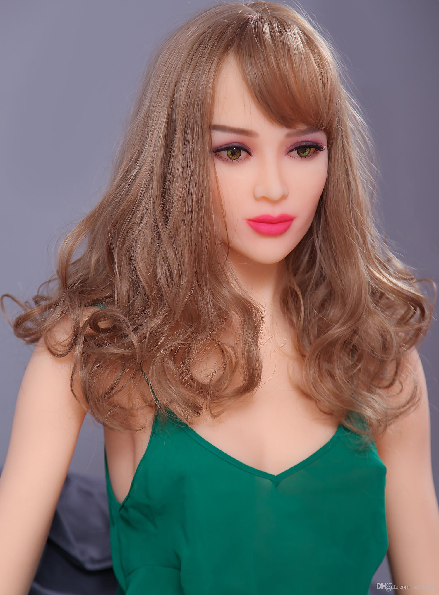163cm Beautiful Silicone Sex Doll Men Sexuel Toys Real Lifelike Full Size Love Doll Middle Breast