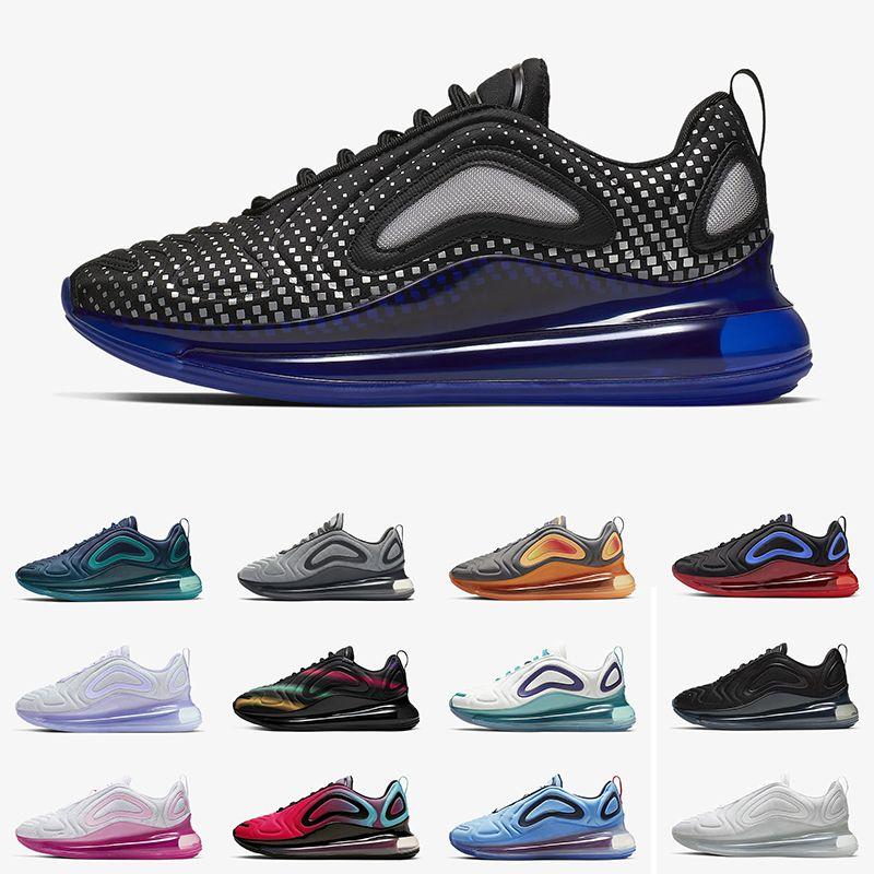 2019 Nike Air Max 720 New Arrival Race Blue Zapatillas de running hombre mujer Deep Royal Blue Triple black University Flash Wolf Grey zapatillas