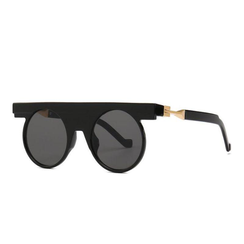 Compre Luxo Na Moda Rodada Óculos De Sol Das Mulheres Dos Homens Do Vintage  Óculos De Sol Bonitos Designer De Marca Nique Hipster Shades Oculos De Sol  De ... 6b286ff313