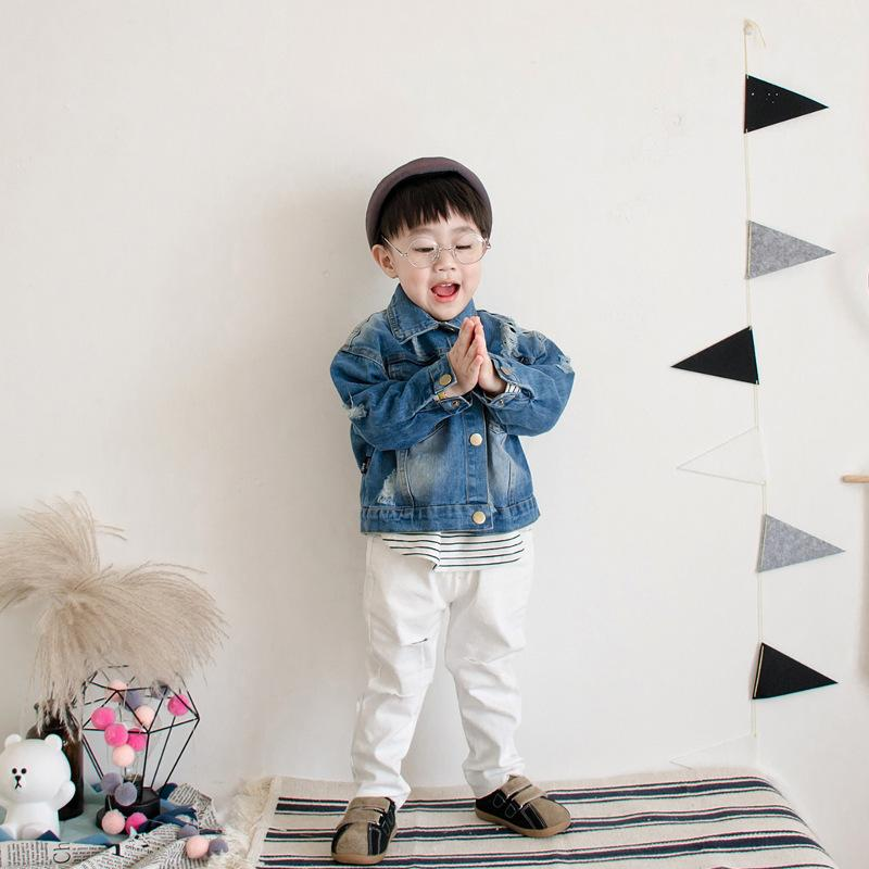 9c33114f754 Boy Denim Jackets Fashion Spring Autumn Coat Baby Boys Outwear Children  Clothing Blue Loophole Pocket Top Kids Clothes Quilted Jacket For Kids Boy  Rain ...