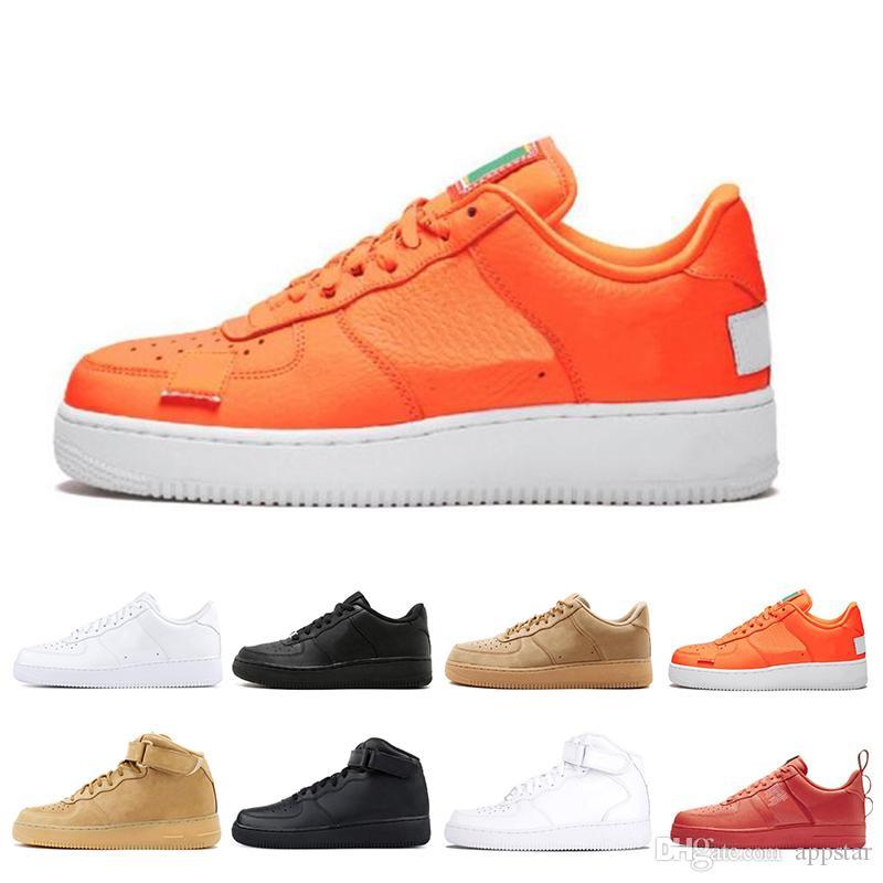 meilleure sélection e049a 9bb47 Air force nike 2019 nouvelles couleurs ciel designer véritables baskets en  cuir classique haute coupe haute mens femmes baskets un skate chaussures ...