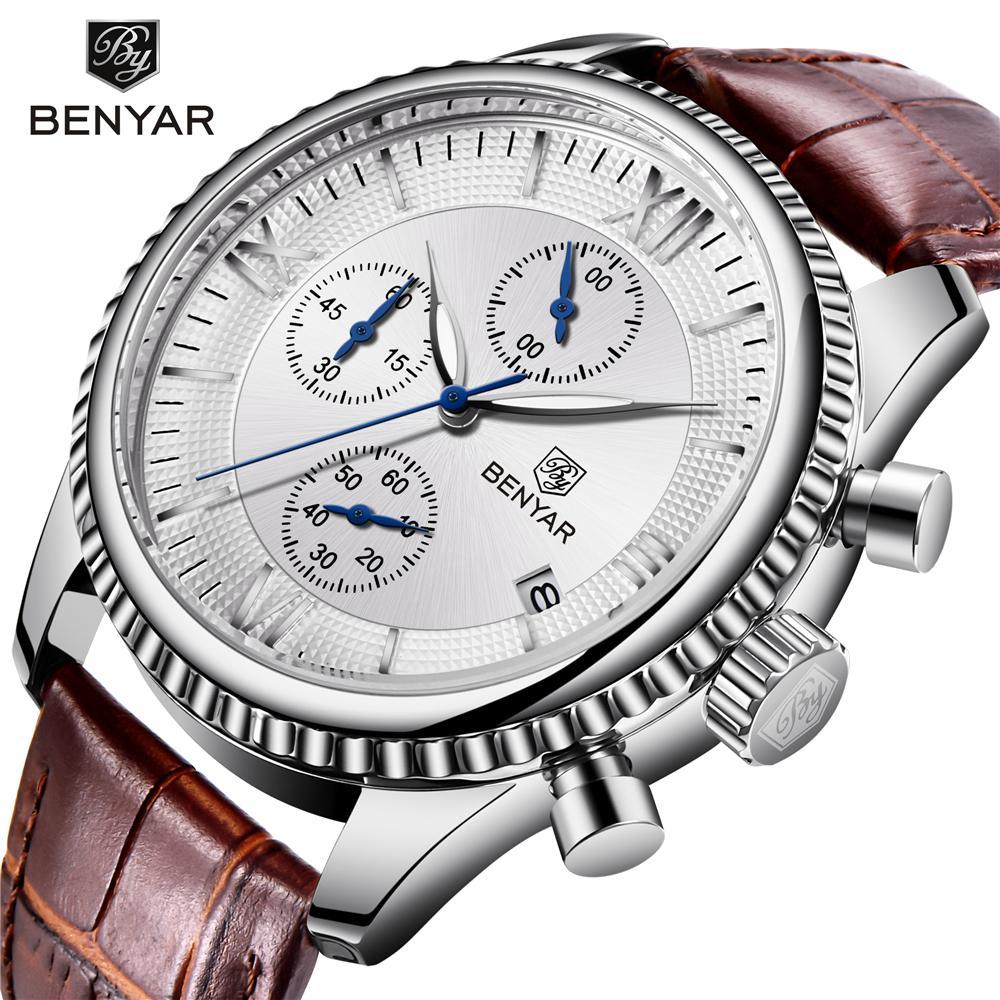 ff1165718 BENYAR Men S Watch Fashion Sport Quartz Watch Men Wristwatch Mens Clock Top  Brand Luxury Leather Watches Men Relogio Masculino Low Price Watches  Wristwatch ...