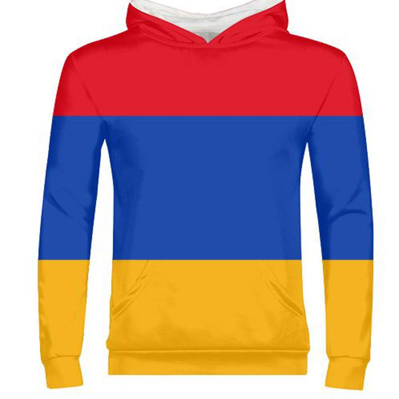 ARMENIA male youth custom made name number photo yellow red blue country zipper sweatshirt armenian nation flag boy clothes