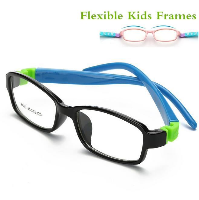 9f563f6891 Cute Acetato Rubber Kids Glasses Frame Flexible Spectacles Children ...