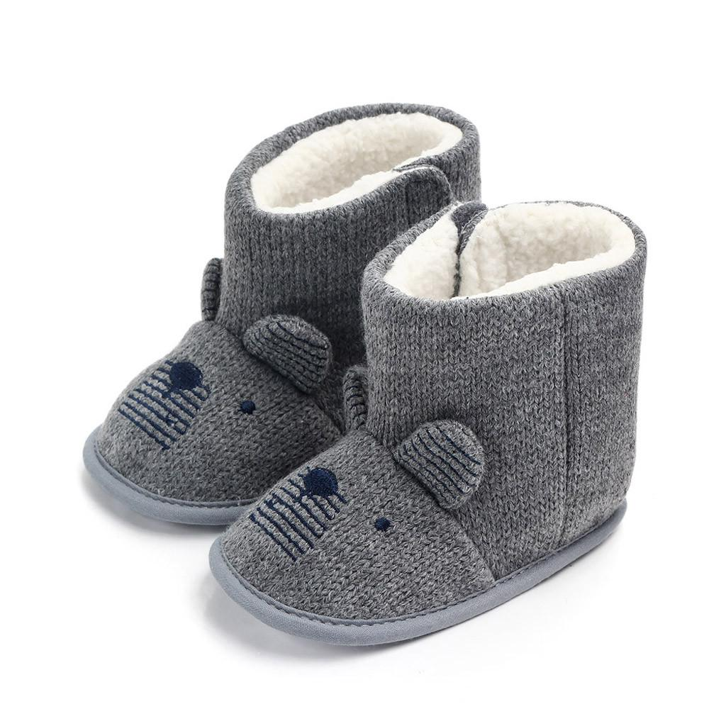cd943c04c9ba Novelty Baby s Boots Infant Girls Boys Baby Snow Boots Soft Bow Anti ...