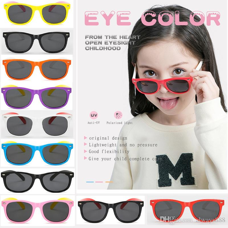 4a86abeddaff Sunglasses for Kids Silicone Fashion Anti-radiation Polarizing ...