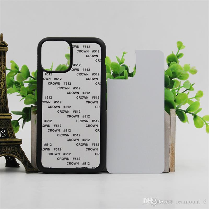 10 pcs Retail DIY 2D Sublimation Silicone de borracha para iPhone novos modelos de iPhone 11 11Pro 11Pro Max 5.8 2019 Com placa de alumínio