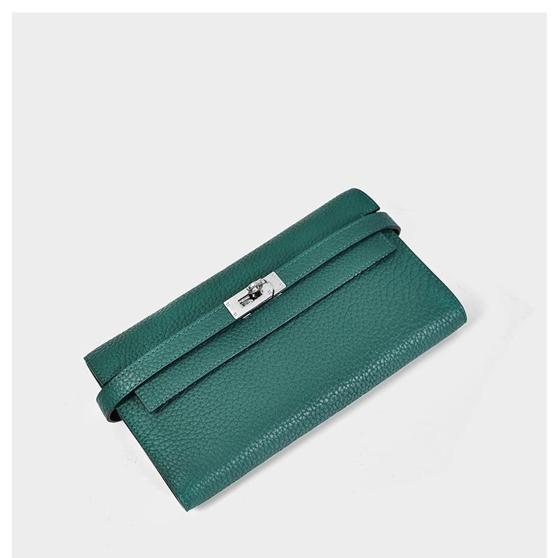 Charm2019 Woman Wallet Litchi Grain Long Fund Genuine Leather Hand Take Package More Function Will Capacity Head Layer Cowhide Tide