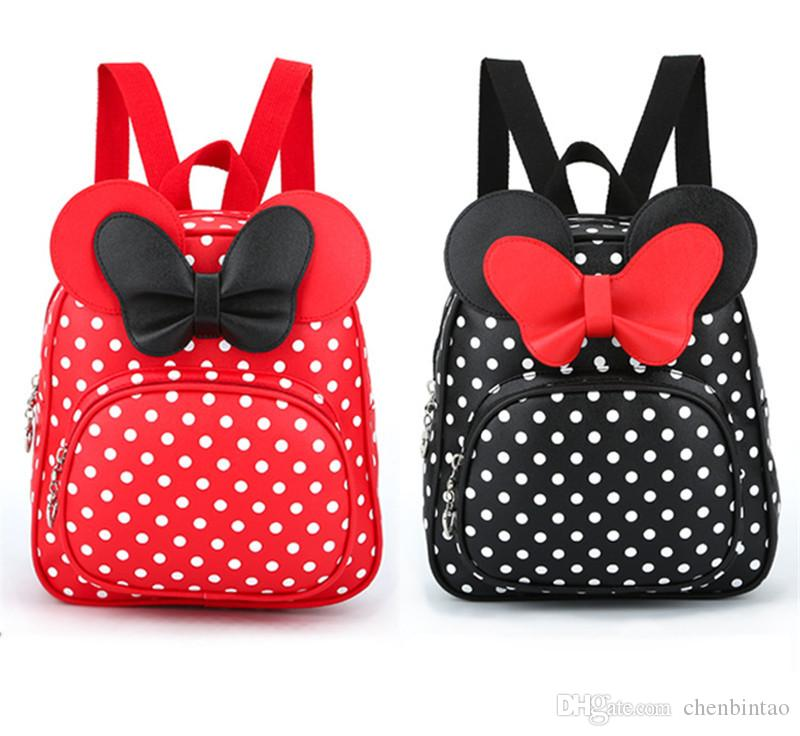 6d0bf0fbdde1 Children Bags for Girls Kindergarten Children School Bags Cartoon Bow Tie  Baby Girl School Backpack Cute Children Backpack Cute Backpack Backpack  Mickey Bag ...