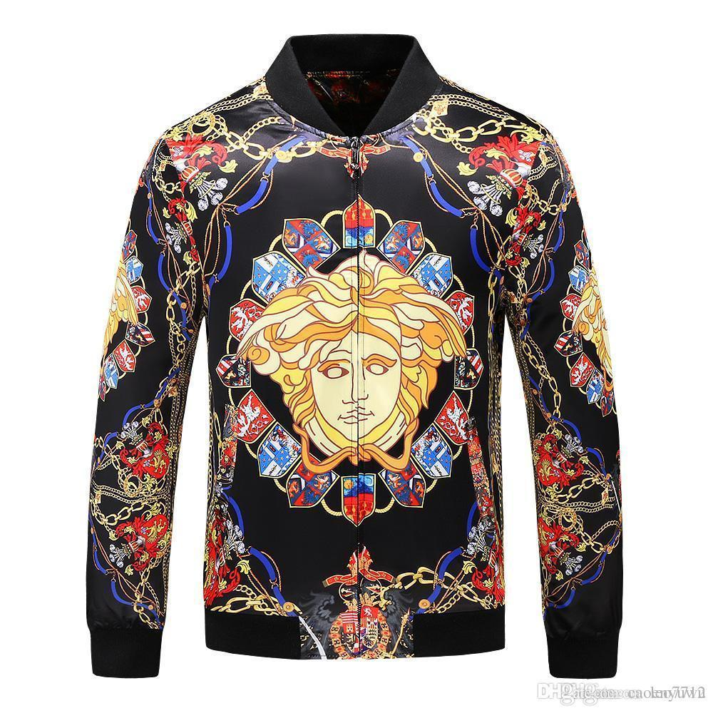 Italy New Fashion Men Jacket Coat With Letter Print Luxury Designer