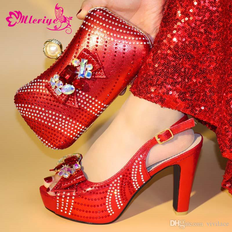fd98597361b 17-9 Red New Arrival Shoe And Bag Italian Design Set Women High ...