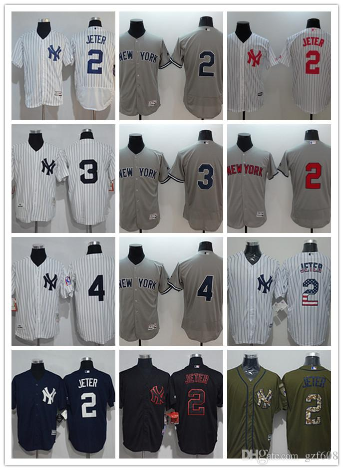 quality design e5e31 31b16 custom Men s women youth New York Yankees Jersey #8 Yogi Berra 5 Joe  DiMaggio 4 Lou Gehrig 3 Babe Ruth 2 Derek Jeter Baseball Jerseys