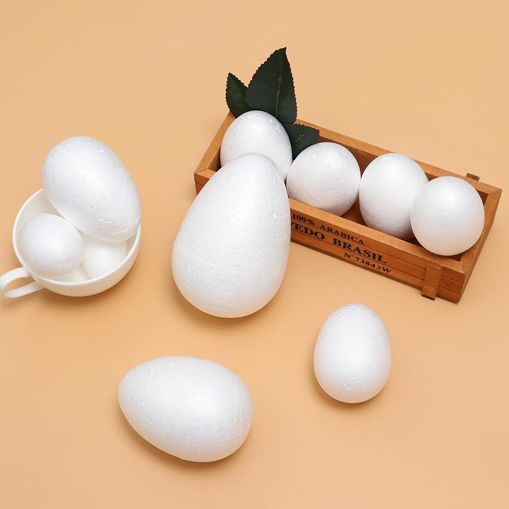 10pcs* Easter Handmade DIY Painting Egg Accessories White Foam Egg Party Decor