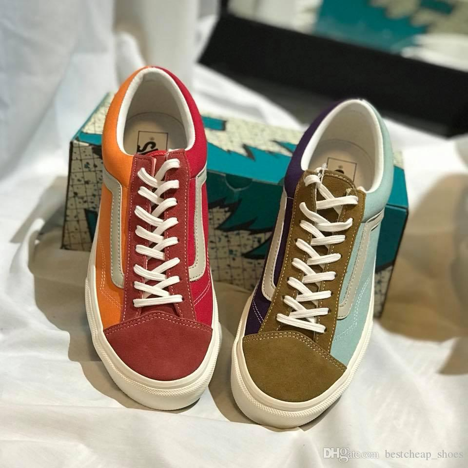70c81cc248 2019 New Vans Japan Line Old Skool V36OG ASIA EXCLUSIVE Men Casual Shoes  Skate Canvas Sports Mens Running Shoes Vans Sneakers Trainers Size 36 44  From ...