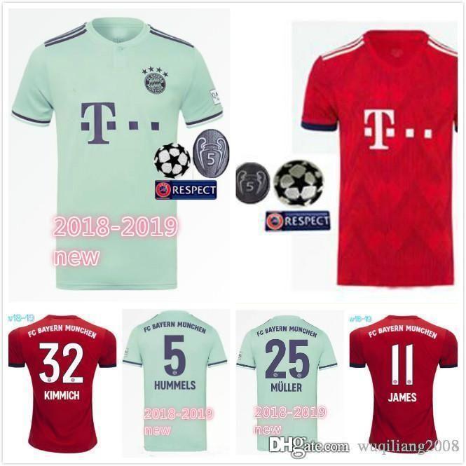 eaa12f549 Compre 2019 MULLER Casa De Campo Jersey 18 19 VIDAL KIMMICH JAMES BOATENG  ALABA LEWANDOWSKI Bayern Munique Camisas De Futebol Tamanho Uniforme S 2XL  De ...
