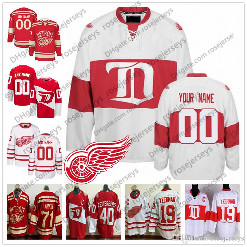 19ed8bc6f4a 2019 Customize Detroit Red Wings Hockey Men Women Youth Kid OLD BRAND White  Third Winter Classic Stadium Series Centennial Vintage Jersey S 4XL From ...