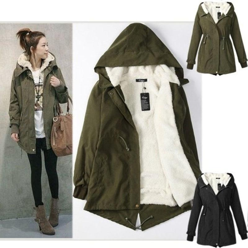 af0d44b96d9 Women Parkas Winter Coats Hooded Thick Cotton Warm Female Jacket ...