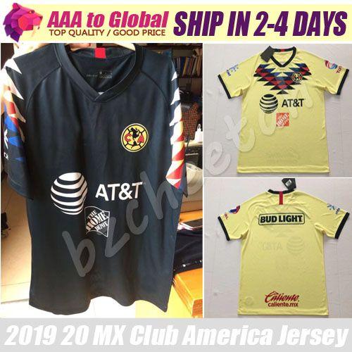 39093c58175 2019 MX Club America Jersey 2020 Mexico LIGA Home Camiseta De Futbol  O.PERALTA G.RODRIGUEZ SOCCER JERSEYS Football Shirts From Bzcheetah