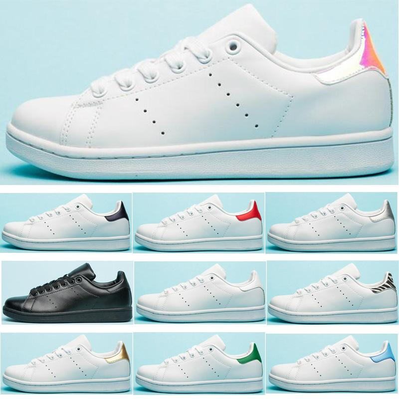 Adidas Stan Smith Shoes Stan Fashion Casual Shoes Uomo Sneakers in pelle da donna Rosa Light Blue Zebra Flower Navy Smith Sports Trainer Classic Flats Taglia Eur36-45