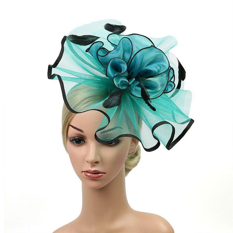 Cocktail donne Sinamay Fascinator di moda Headwear signore Elegante banda bande Partito Cappello Chiesa di nozze Kentucky Derby Reale Testa
