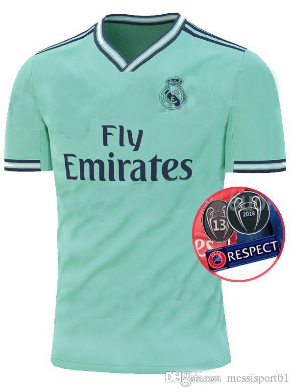 premium selection dbe05 5bdeb 2019/20 Real Madrid third Soccer Jersey green NEW soccer shirt #20 ASENSIO  ISCO MARCELO madrid 19 20 Football uniforms size S-2XL