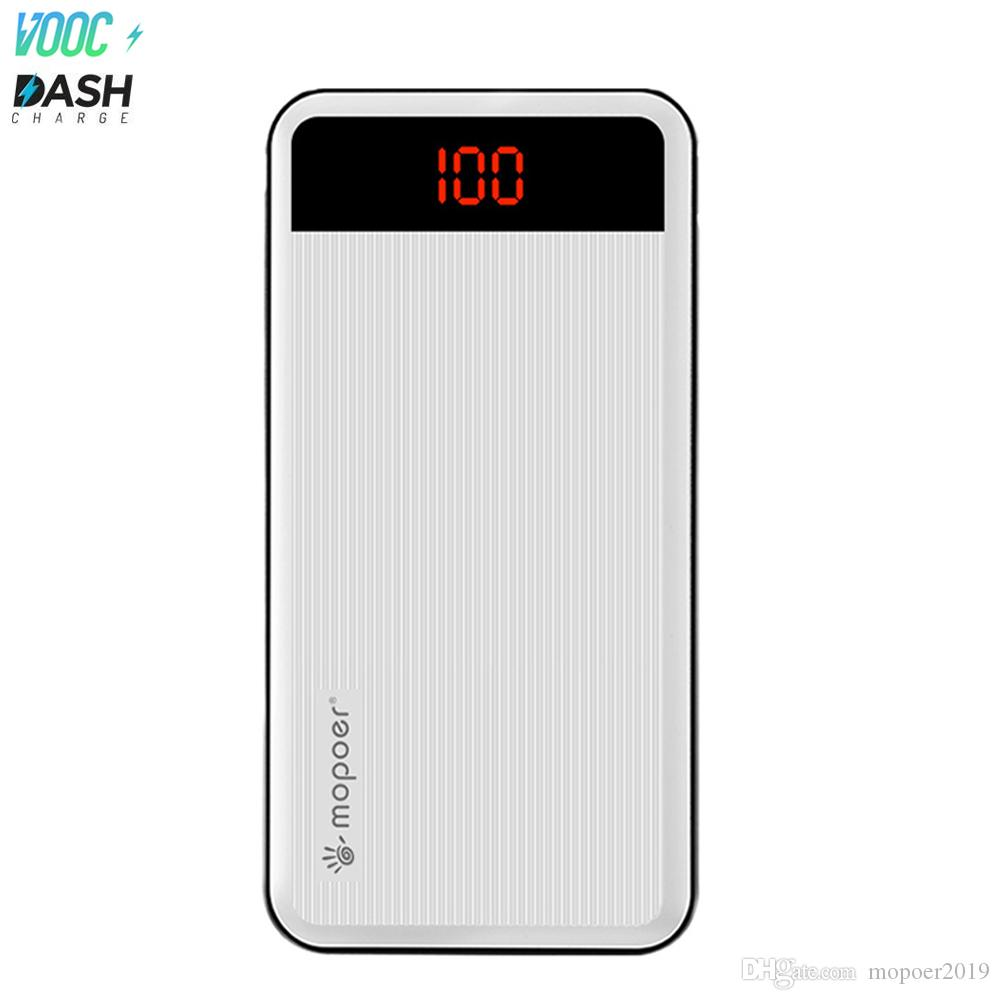 wholesale dealer 63e5e bde5b Mopoer Dash Charging Power Bank Charging Rapidly for Oneplus Cell Phone  VOOC Power Banks 20000mah with Flashlight