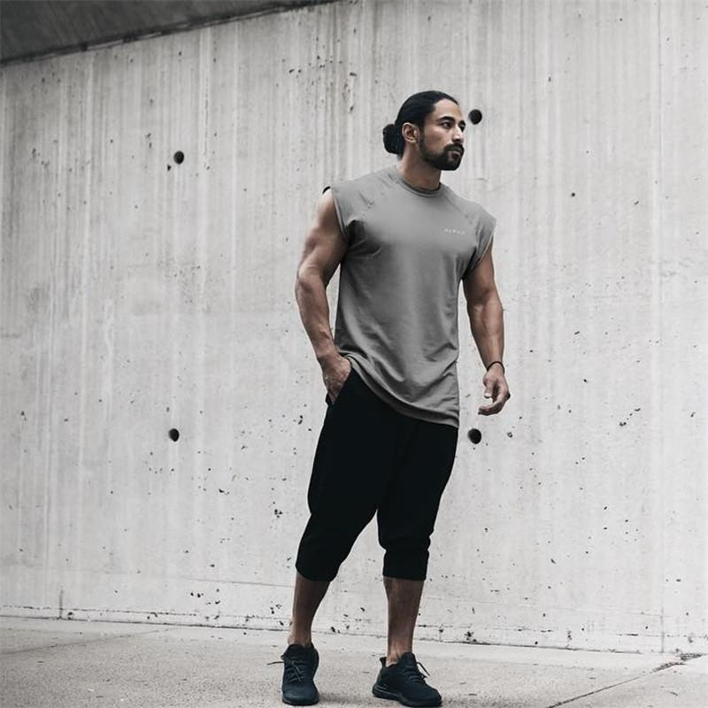 f13513870a48 2019 2018 Hot Sale Summer Fashion Casual Loose Mens Cropped Short Pants  Sweatpants Jogger Shorts Men Black Black Ash From Silan