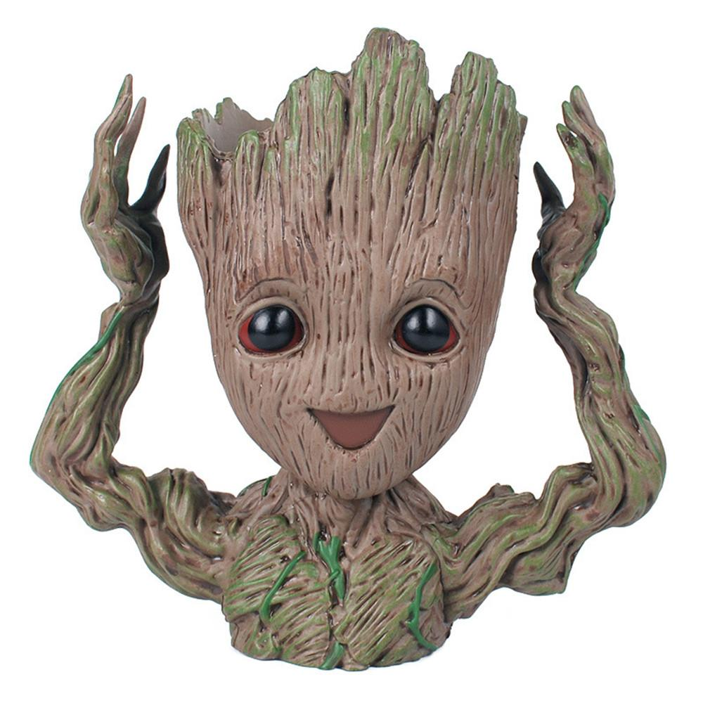 Baby Groot Action Figure Lovely 16CM Guardians of the Galaxy 2 modello Figurine Marvel Anime Hero Treeman porta telefono Decorazione vaso di fiori