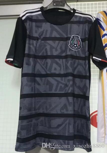 size 40 ccaec 00970 MEXICO SOCCER JERSEY 2019 GOLD CUP kits 2020 Black away soccer shirt  CHICHARITO LOZANO DOS SANTOS camisetas de futbol football shirt