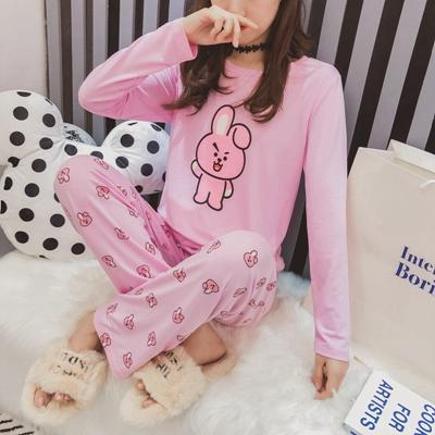 2019 BT21 BTS Kawaii Cartoon Cotton Pajama Sets Bangtan Boys Korean Style  Fashion Women Autumn Spring Long Sleeve Comfy Sleepwear From Unclouded01 299c0c5c5
