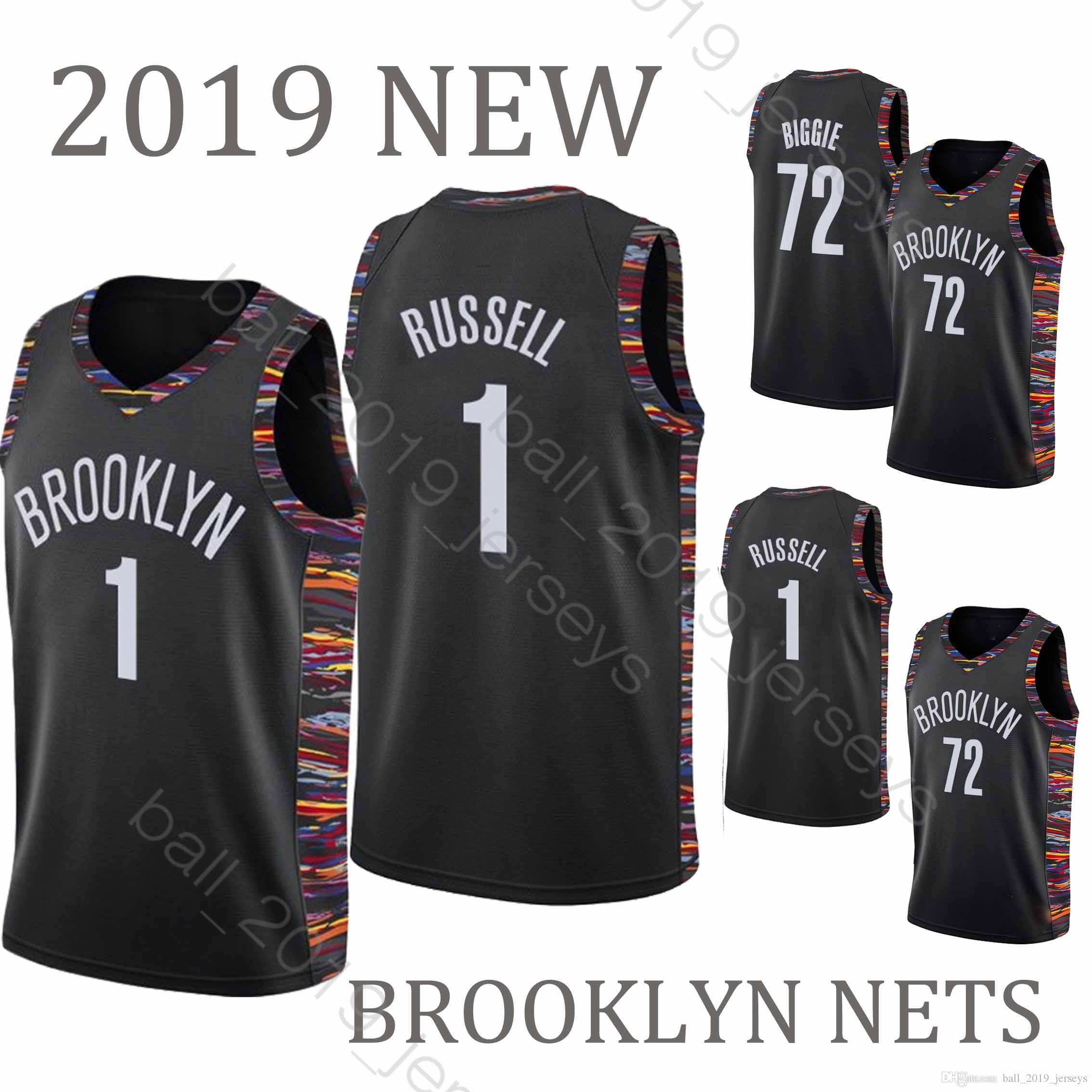 top design 2fc08 00b46 1 D'Angelo jersey Russell BROOKLYN 72 Black NETS Biggie jerseys 2019 new  HOT SALE Basketball Jerseys